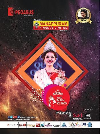 Pegasus presents Manappuram Miss Queen of India 2019 powered by SAJ Earth Resorts, DQUE Watches  #MQI #MissQueenofIndia #MQI2019 #ManappuramFinanceLtd #Pegasus_Global #DrAjitRaviPegasus