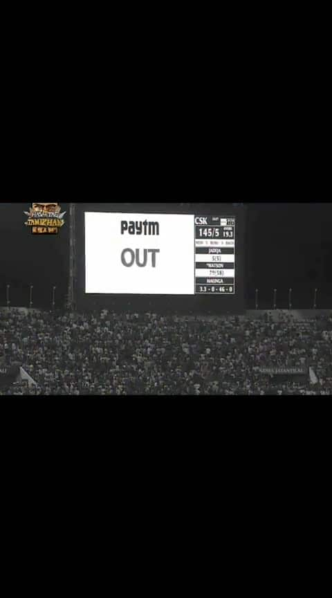 Watson sad innings 😔...#tamizhan #watson #csk #ipl-2019 #iplfinals2019 #csk_vs_mi