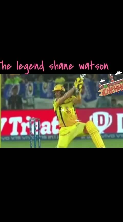 the legend shane Watson #iplfinals2019  #csk #dhoni-csk #cskians  #watson