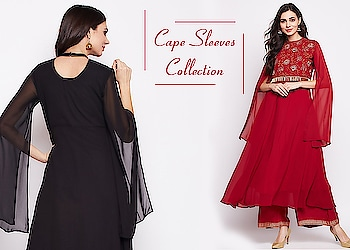 Cape sleeves collection!  https://bit.ly/2Hm6k0w  #9rasa #colors #studiorasa #ethnicwear #ethniclook #fusionfashion #online #fashion #like #comment #share #followus #like4like #likeforcomment #like4comment #yellow #ss19collection #ss19 #capesleeve #longsleeve