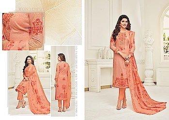 MARVELOUS PEACH CAMRIC COTTON STRAIGHT SUIT. Rs.1,280.00 Link For Details:- https://www.nallucollection.com/marvelous-peach-camric-cotton-straight-suit/ For Order/Price What-app us (+91) 8097909000 * * * * #salwar #salwarsuits #dress #dresses #longsuits #suitsonline #embroidered #onlinefloralsuit #floral #fashion #style #palazzosuits #shararastylesuits #classy #designer #partywear #partywearsuits #exclusive