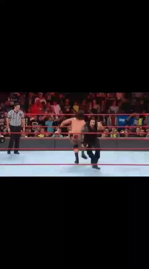 Spear by Roman Reigns(Reigns VS Mcintyre)