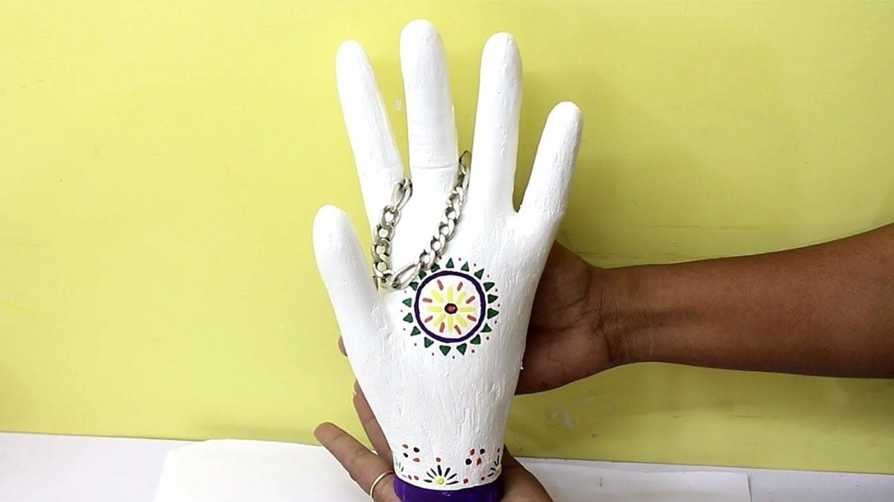 Human Hand With Cement - Best Cement Craft Idea | Creative Cement Projects