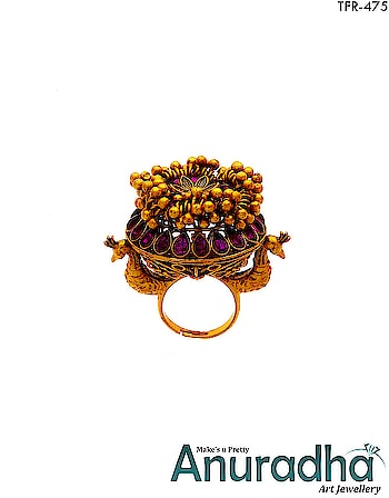 Explore our Royal Finger Ring collection on Anuradha Art Jewellery. To see more designs click on this link: http://bit.ly/2Hutgus . . . . . . . . . . #ring  #rings  #fingerring  #royalfingerring  #royaljewellery  #traditionalfingerring  #traditionaljewellery  #jewellery  #fashionjewellery  #fashion  #jewellery  #artificialjewellery  #studentoftheyear2  #AnuradhaArtJewellery