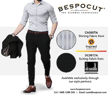 B Inspired di camillo Bespoke Style #4  Contact us @ 1800 1200 388 Website: www.bespocut.com  #bespocut #bespocutexperience #bespokeexperiencezone #binspired #dicamillo #suits #shirts #fabrics