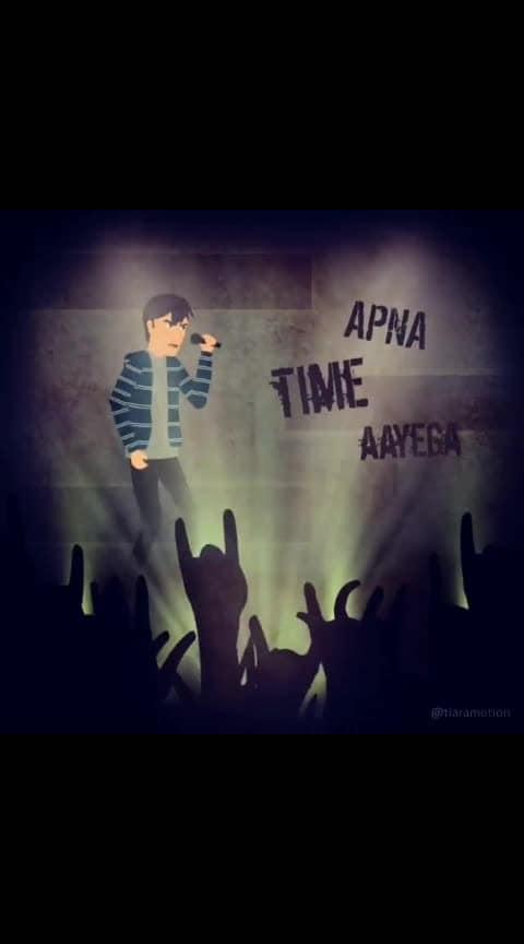 #apnatimeaayega #apna_time_aayega #apnatimeayega #supersong #roposo-hindi #lovefelling
