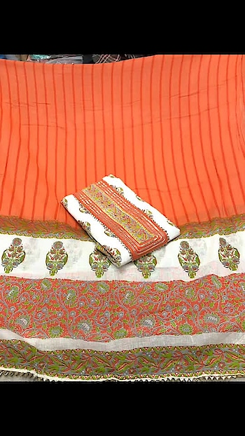 Rate:1250/-  Top - Cotton  Bottom - Cotton  Dupatta - Cotton  Ss