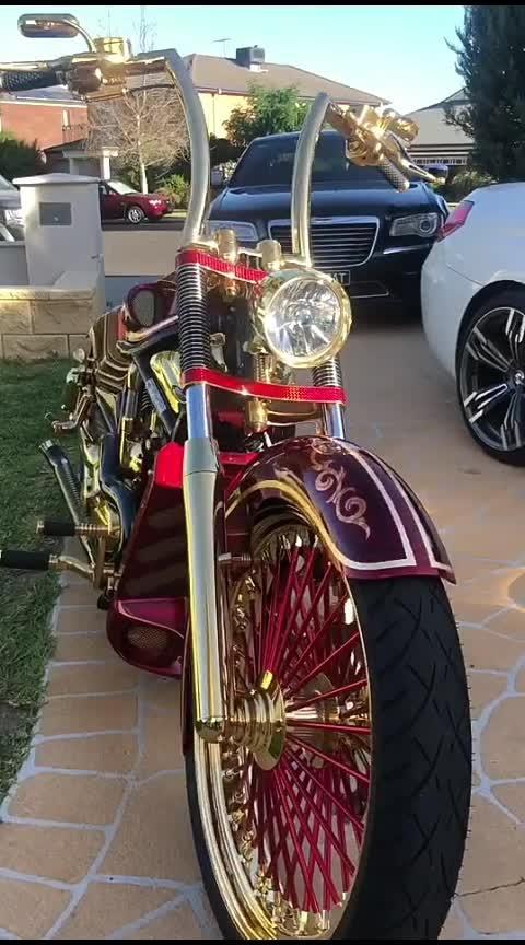 Omg😱!! Golden VIP Bike In The World #omg #wow-omg #wow #roposo-wow #amazing #amazing-video #bhothard #fantastic #bike #goldenbike #vip