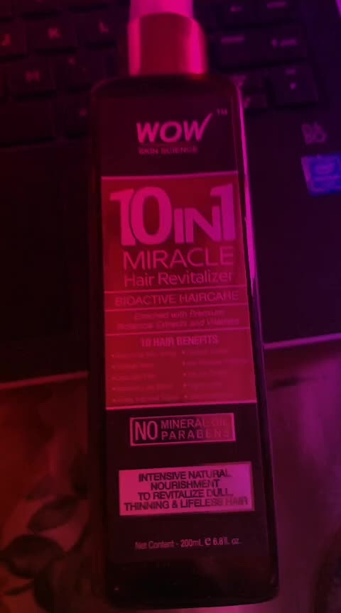 wow 10 in one miracle water!!! #wow #wow10inone #wowskinscience #haircaretips #haircareroutine #haircareproducts #skincare,haircare,lipcare #followers #love