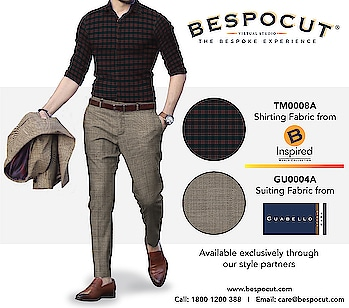 B Inspired Guabello Bespoke Style #6  Contact us @ 1800 1200 388 Website: www.bespocut.com  #bespocut #bespocutexperience #bespokeexperiencezone #binspired #guabello #suits #shirts #trousers #fabrics