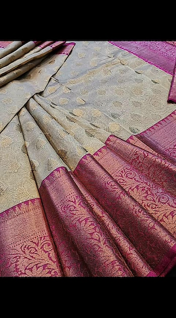 #slhr #₹2299WithFreeShipping  💦 tissue kora weaving sarees with all over jari and contrast brocade blouse💦