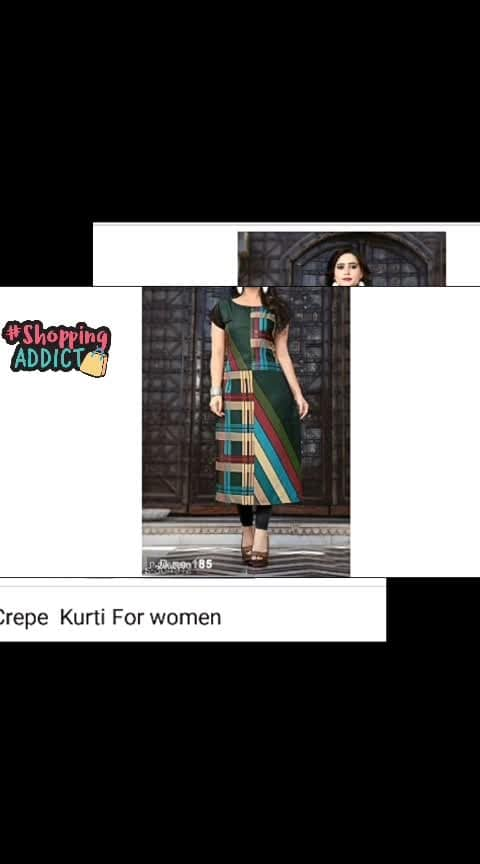 Kashish Crepe Kurti For Woman   ▶️Website Link - https://bit.ly/30hsbPs◀️  #fashion #style #stylish #love #photography #instapic #me #cute #photooftheday #nails #hair #beauty #beautiful #instagood #pretty #swag #pink #girl #eyes #design #model #dress #shoes #heels #styles #outfit #purse #jewelry #shopping