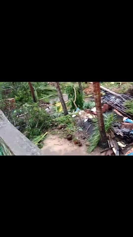Cyclone aftermath #cyclone #cyclone-foni #villagelife