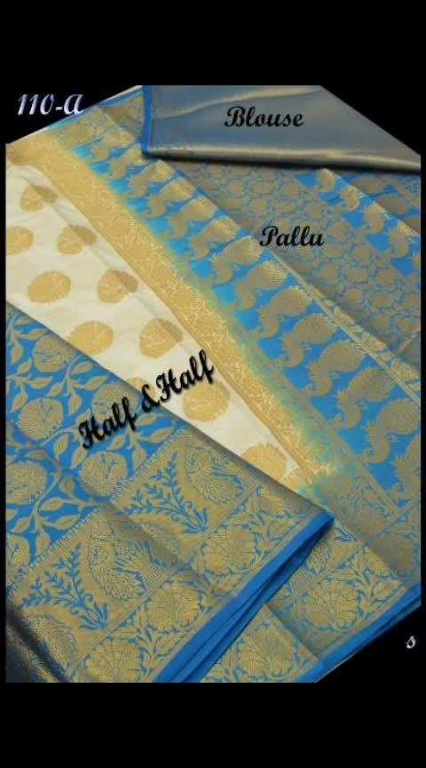 UMA Half & Half Raw  Silk Sarees @ Rs 1099 only. Blouse : Contrast Blouse   Length : 6.20 M Wash : Dry Wash Note :- Product Colour May Lightly Vary Due To Photo Lighting Sources.