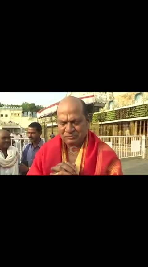 #rajendra prasad  in tirumala