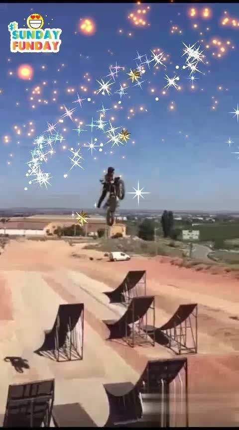 ##flying bike stunt