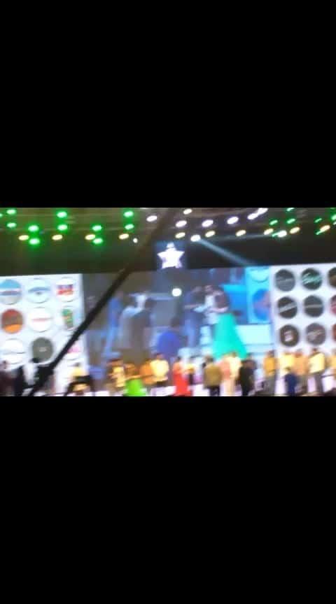 Vamsi and Mahesh Babu on stage.....