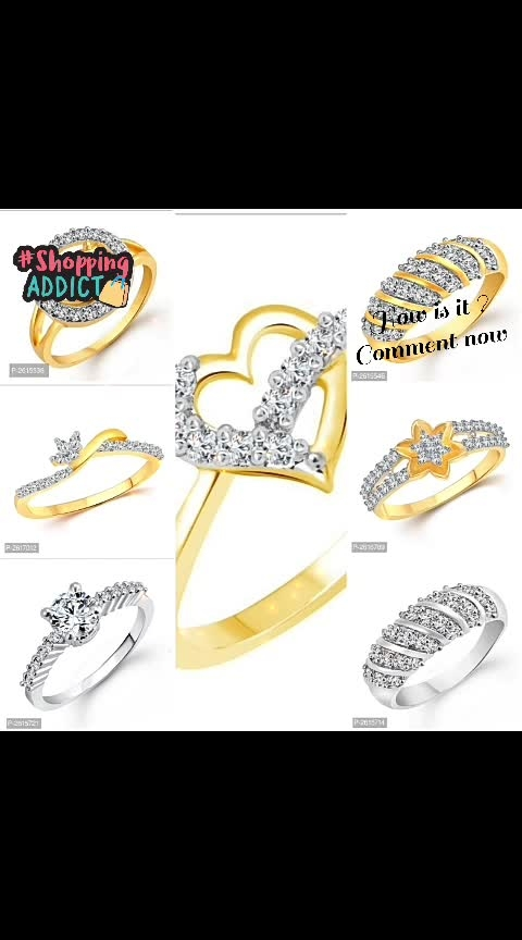 CZ Rhodhium Plated Alloy Rings ◀️Website Link - https://bit.ly/30hsbPs▶️  #jewelry #jewels #jewel #photography #instapic #fashion #gems #gem #gemstone #bling #stones #stone #trendy #accessories #love #crystals #beautiful #ootd #style #fashionista #accessory #instajewelry #stylish #cute #jewelrygram #fashionjewelry