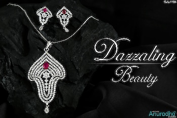 All New Splendid Collection Of American Diamond Pendant Set. To see more appealing designs click on this link: https://bit.ly/2DADUyM . . . . . . . . . . #pendant #diamondpendantset #americandiamondpendat #pendantsetonline #traditionaljewellery  #jewellery
