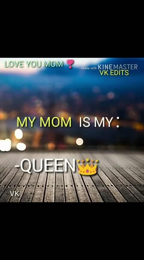 my mom is my queen ,angel.....#mom-baby #mom #momanddad #momoslover