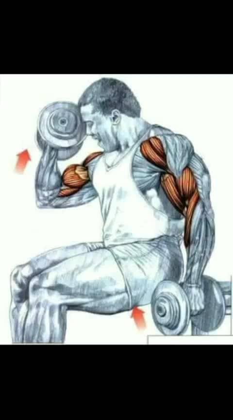 Biceps working pose step