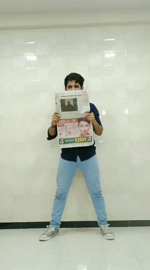 The Newspaper Dance..  #roposostar  #dance #bollywooddance #viralboss #Michealjackson @roposocontests