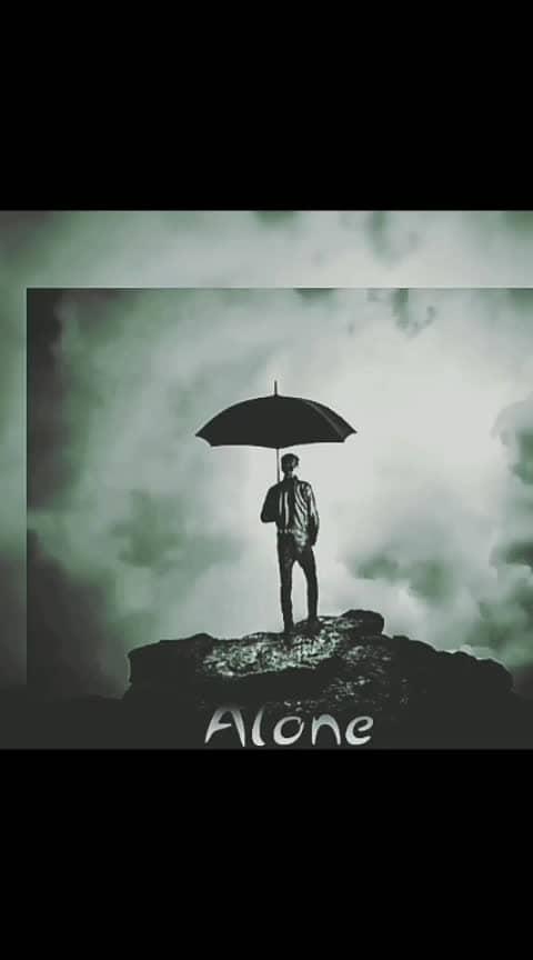 Alone 😥😉