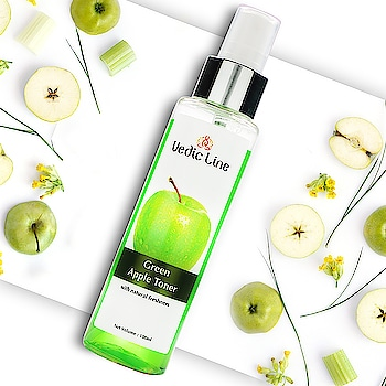 Today's fast-paced life, do we really get time to exfoliate our skin??? I guess it's a big NO for everyone. So Vedicline is here to your rescue with its Green Apple skin tonic. Say bye to your Marks & Blemishes and keep your face elastic, glowing and youthful. Add To Your 🛒🛒 and get FLAT 10% OFF. http://www.vedicline.com/product/1188/green-apple-toner 💗 Benefits 💗 👉Removes the dirt and oil. 👉Refreshes and rejuvenates. 👉Maintains skin's PH balance. 👉Tightens facial pores 👉Reduces acne breakouts. Just soak a cotton ball with its 2-3 drops and gently apply all over your face and neck.  #GreenAppleToner #FaceToner #SkinToner #Vedicline #SkinMaster #SkinCareRoutine #SkinCare #BeautyCare #BeautyProducts #CosmeticProducts #AyurvedicProducts #AyurvedicEssentials #GreenAppleFaceToner #NaturalIngredients #SkinCareRegime