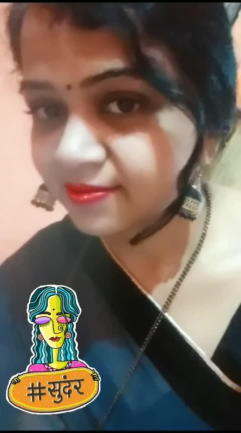 #blacksaree #indianwomen #redlips #beautiful_pic #