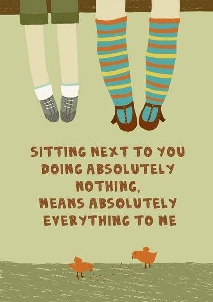 Sitting next to you doing absolutely nothing means absolutely everything to me   #lovequotes #couplequotes #coupleshashtags #couplequotes #cutecouple #lovecouples #lovehashtags #romanticcouples #cutecouples #relationshipgoals #cutecouplesgoals #forevercouple #foreveralways #bestcouples #loveisintheair #loveyourself #123WeddingCards