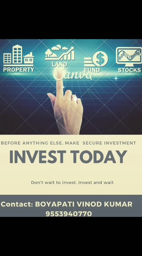 INVESTMENT in plots is better than any other investments