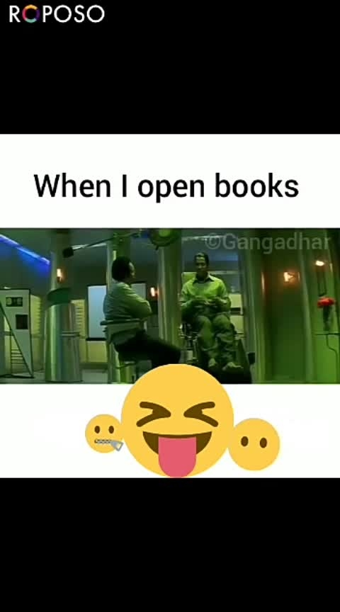When opened books