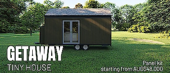 Getaway Tiny House | Build Tiny.  GETAWAY Tiny House is one of the tiny house designs that Big Tiny has. This tiny house is available in Australia, Singapore and Malaysia. This tiny house design is popular in Tiny House Australia community.  Visit here :https://www.buildtiny.com.au/getaway-tiny-house