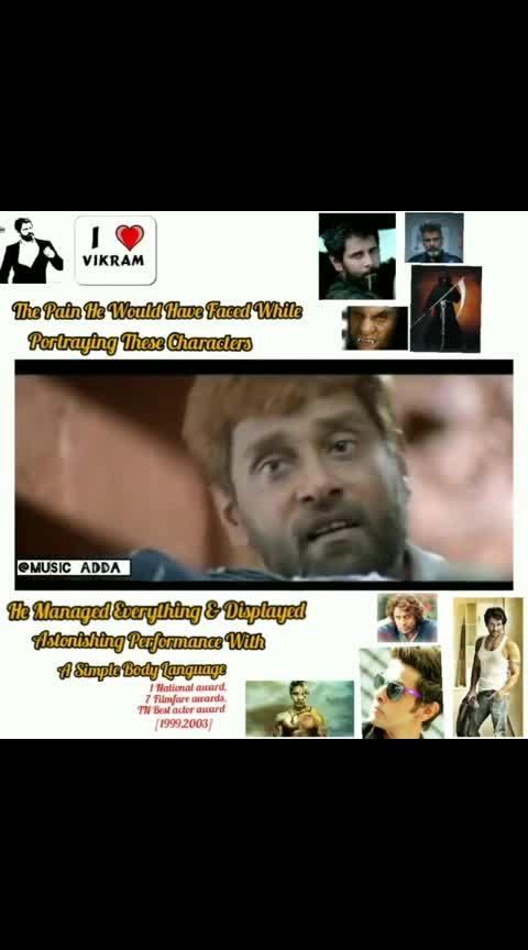 Versatile actor #chiyaanvikram