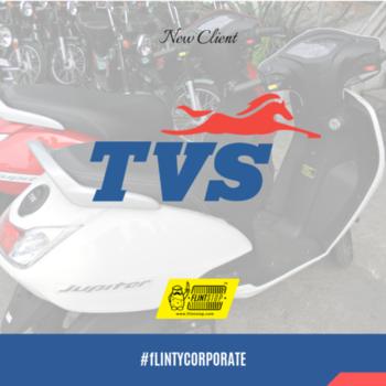 India's go-to motorcycle maker since 1978, is also a #happyflintstopper   #motors #tvs #happy #best #corporateclient #flintstop #quirky #vehicle
