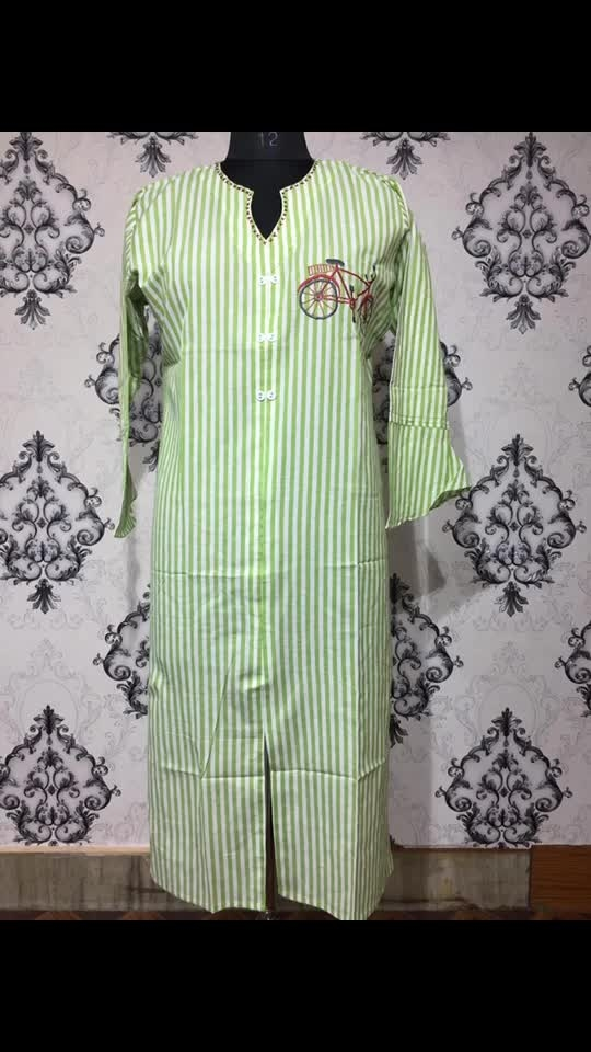 Rate:850/-  cotton kurti with embroidery and bell sleeves xl and xxl
