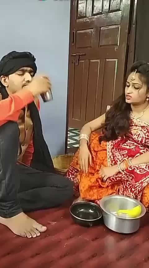 #wife-husband-very-funny-video 😁😂😁