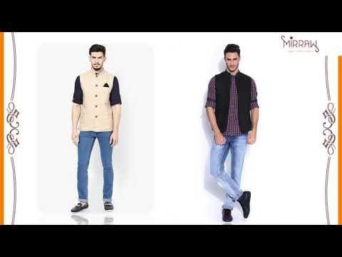 Nehru Jacket - The best Mens Indian Ethnic Wear. To make it look more beautiful on men, checkout this video which lays down the simple rules to follow that will make you look fabulous in Nehru Jacket. #nehrujacket #nehrujackets   https://www.mirraw.com/men/clothing/nehru-jacket