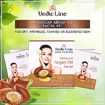 Argan oil is known as liquid gold because of its golden color. It is a precious & rare oil, extracted with the utmost care from the kernel of fruits from Argan Tree in Morocco. Buy Argan oil facial from Vedicline which has many benefits including moisturizing, anti ageing & whitening.  🛒Buy now: 👉 http://bit.ly/MoroccanArganFacial  💟Benefits💟  🥀 Prevents signs of aging i.e. wrinkles, fine lines, and dark spots. 🥀 Deeply moisturizes the skin. 🥀 Gives a beautiful glow along with soft skin. 🥀 For Dry, Wrinkled, Tanned or Blemished Skin. Also comforts Oily Skin. > > #Vedicline #SkinMaster #ArganOilFacialkit #FacialKit #NaturalFacialKit #FacialKitForWhitening #FacialForGlowingSkin