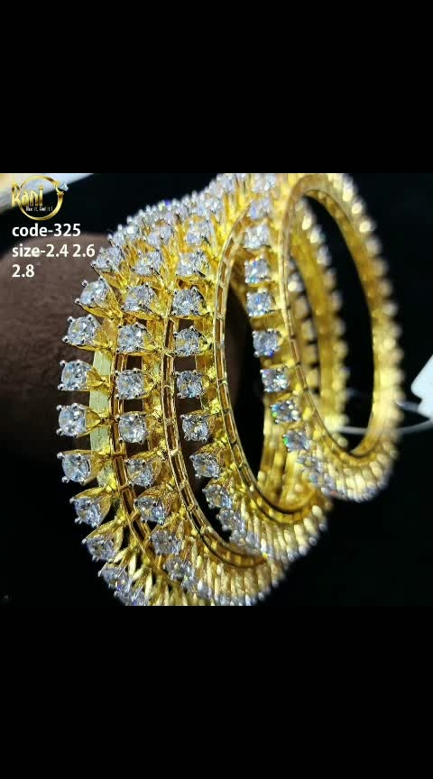 They call for attention as they roll over your wrist , shimmering, shiny and attracting oohs and aah's of appreciation and envy... #whattsappcall9442337275tobuy #boldandbeautiful  #jewellove #banglecraze