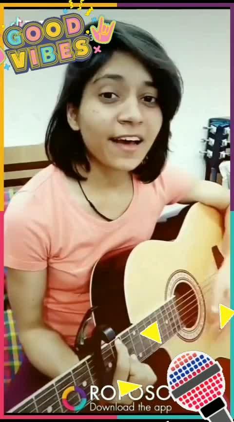 sakhiyaan #sakhiyaan #female #singinglove #guitar
