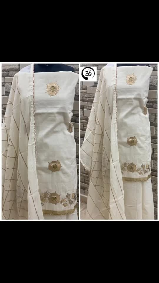 Rate:1750/-  SHIRT-KHADI COTTON  DUPATTA-COTTON  BOTTOM-cOTTON