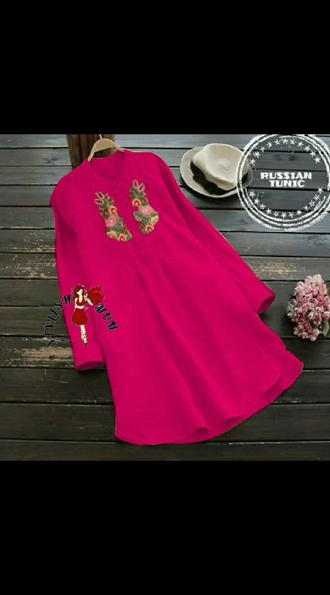 👗RUSSIAN EMBROIDERY TUNIC👗   👉FABRICS RAYON    👉AVAILABLE SIZE BUST  M. 38 L. 40 XL. 42 XXL. 44 💵💸PRICE 950 RS  👍SHIPPING FREE FREE  👉READY TO DISPATCH...r LK 9501023209