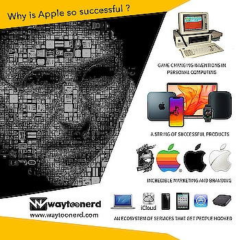 Why is #Apple so Successful ?  www.waytoonerd.com  #technology #tech #electronics #software #computer #gadgets #follow #android #instatech #technews #geek #developer #startup #gadget #smartphone #dailyfact #didyouknowfacts #quotes #funfacts #amazingfact #like #true #doyouknow #interesting #motivation #awesome #quote #factsonly