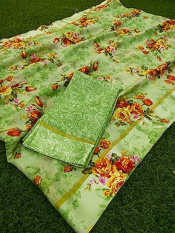 ****Super Kota floral design print saree with broad Satin border and matching blouse piece**** available in wide range of colors Contact or WA : 98254 42027 #daily #kotasarees #casuals #traditionalfashion #floralprint #printedsaree #thebazaar