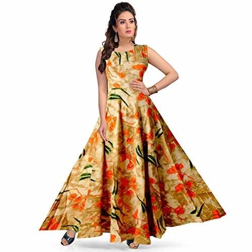 jwf Women Rayon Street Wear #Maxi Long #Dress @ Rs.547. Buy Now at http://bit.ly/2YYOHv3