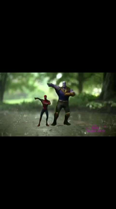 Thanos and Spaider man Danching in hindi song
