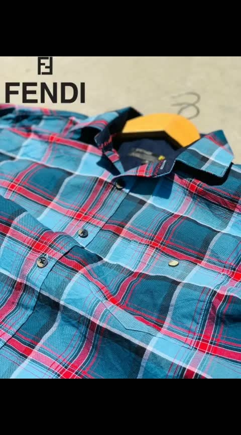 😍😍😍😍😍😍😍😍 Oxford Checks  Brand **FENDI **  Superior Quality  Display in FENDI,S Store      **OG Accessories**  With front side fendi patch  Superb colours  Sizes.  M L XL   Prize only for **550+🚛**/-  **Only Quality** M 9501023209