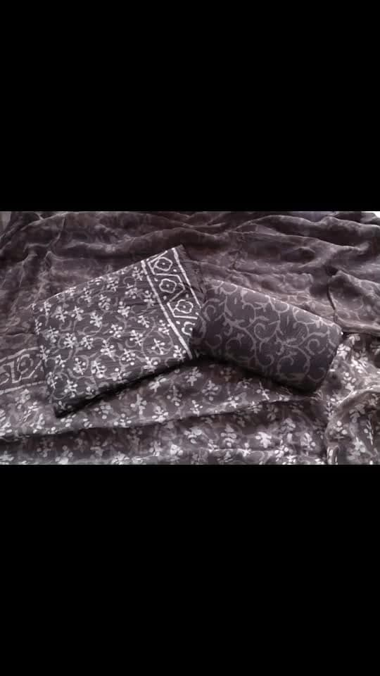 Rate:1250/-  Back with most beautiful and traditional prints  *INDIGO blue ( daabu ) prints*  Printed withh natural die indigo.  Hand block printed 100% cotton suits with pure chiffon dhupatta Ktd