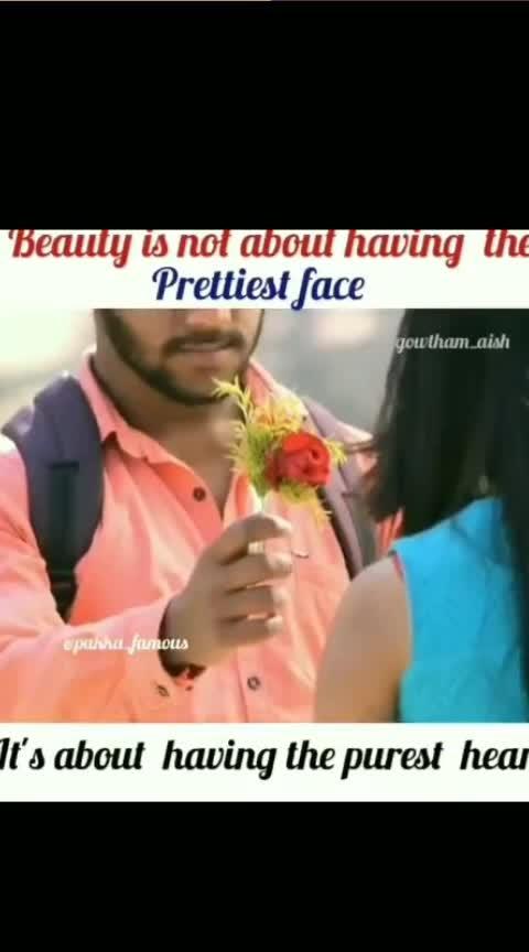 Beauty isn't About Having The Prettiest Face..... It's Having The Purest Heart💜❤💖